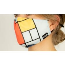 Näomask Piet Mondrian - Kompositsioon punase, kollase, sinisega